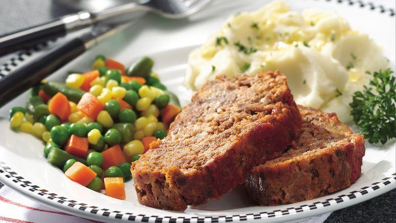 Healthy Sides For Meatloaf  Italian Meatloaf Recipe BettyCrocker