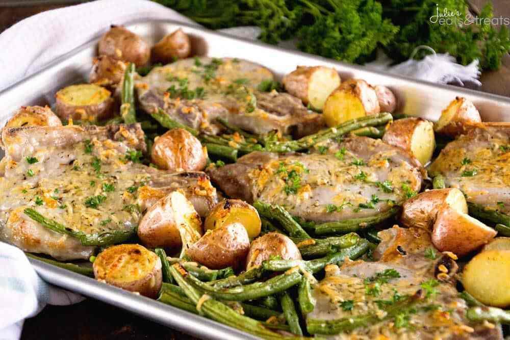Healthy Sides For Pork Chops  Easy Pork Chop Recipe with Parmesan Pork Chops Julie s