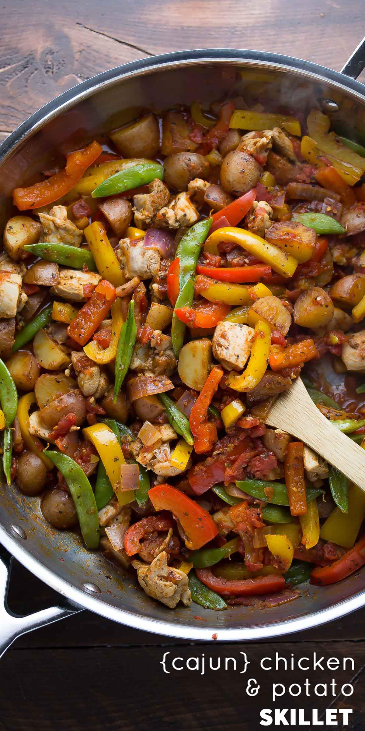 Healthy Skillet Dinners  Healthy Chicken Skillet with Cajun Potatoes and Veggies