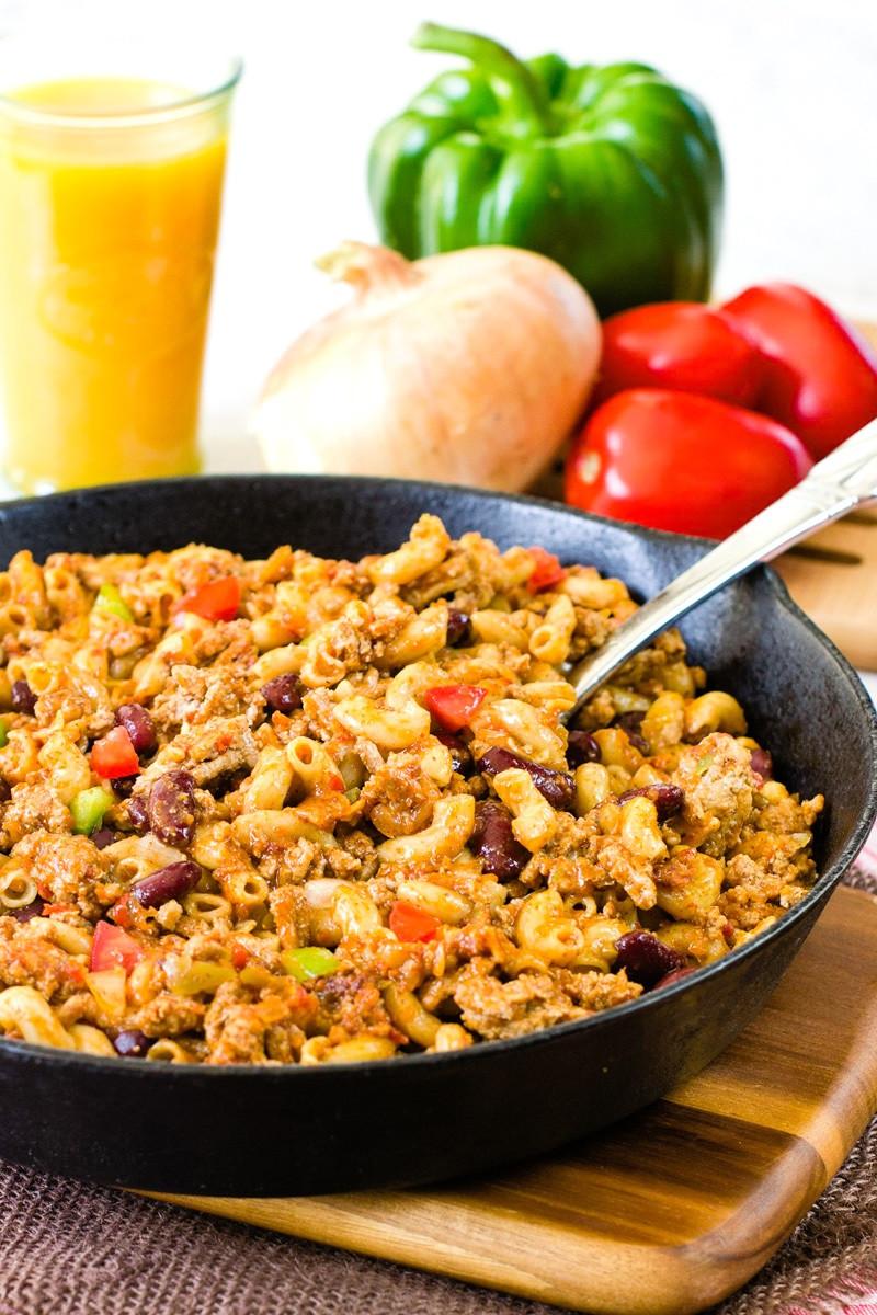 Healthy Skillet Dinners  Healthy Turkey Pasta Skillet Recipe A Weeknight Dinner