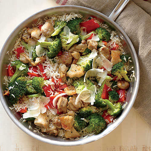 Healthy Skillet Dinners  Chicken Rice and Parmesan Skillet Superfast Chicken