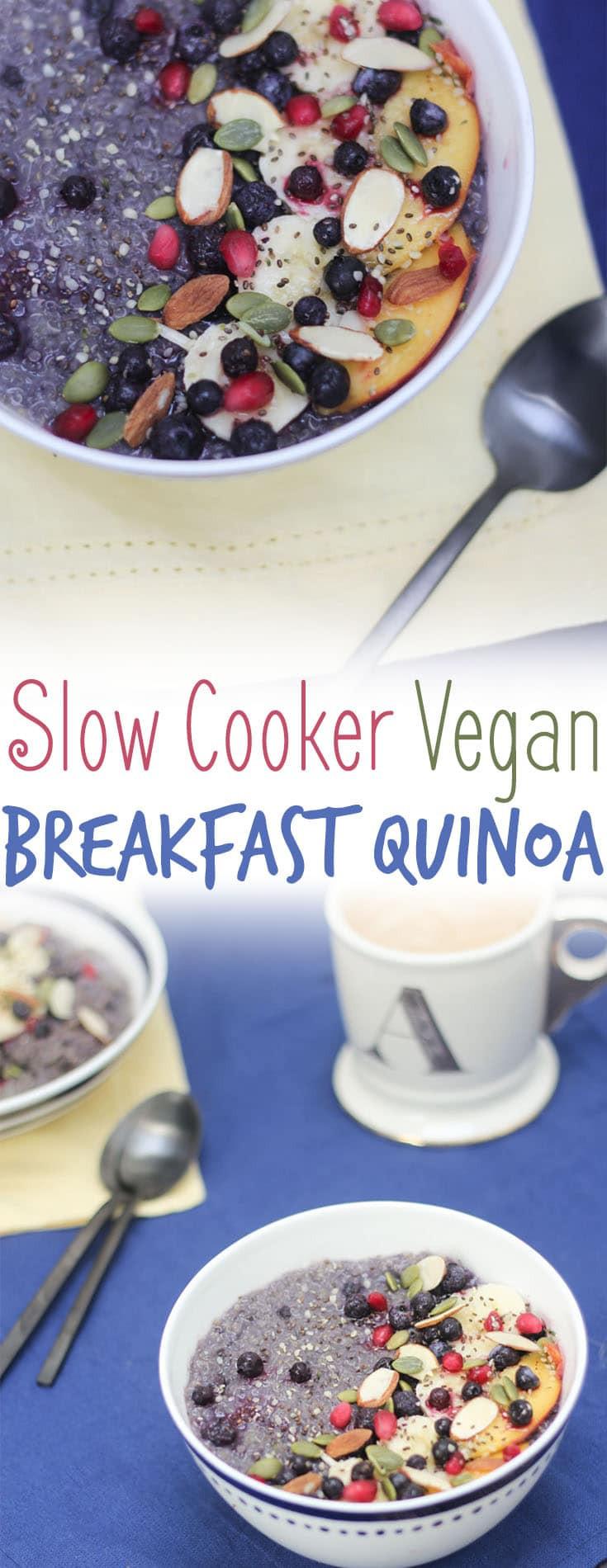Healthy Slow Cooker Breakfast  Slow Cooker Vegan Breakfast Quinoa with Blueberries and