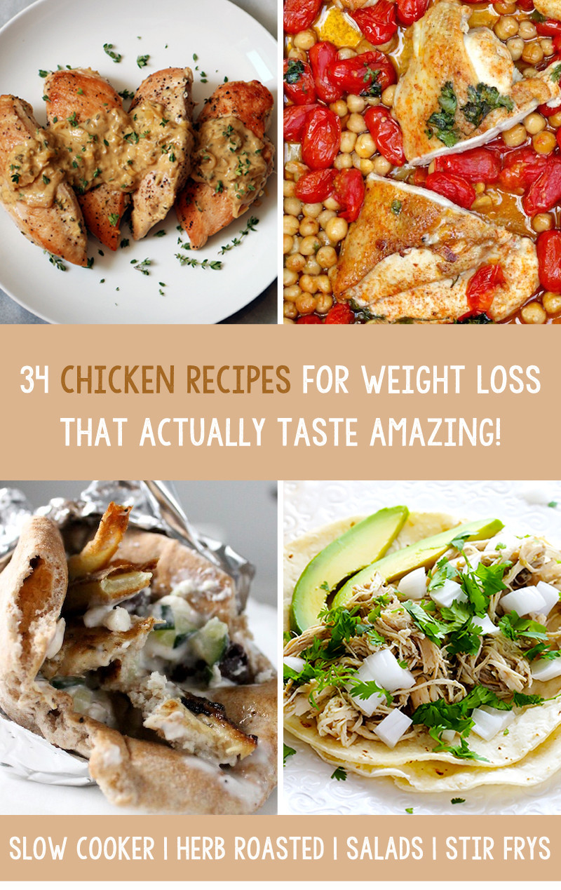 Healthy Slow Cooker Chicken Recipes For Weight Loss  34 Chicken Recipes For Weight Loss That Actually Taste