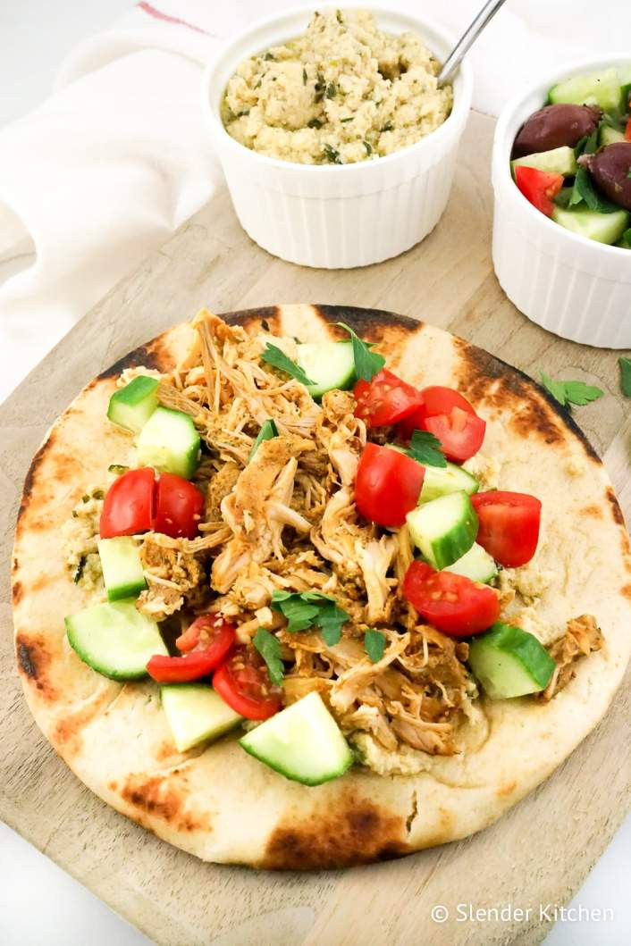 Healthy Slow Cooker Chicken Recipes For Weight Loss  Chicken Shawarma Slow Cooker Instant Pot or Grill