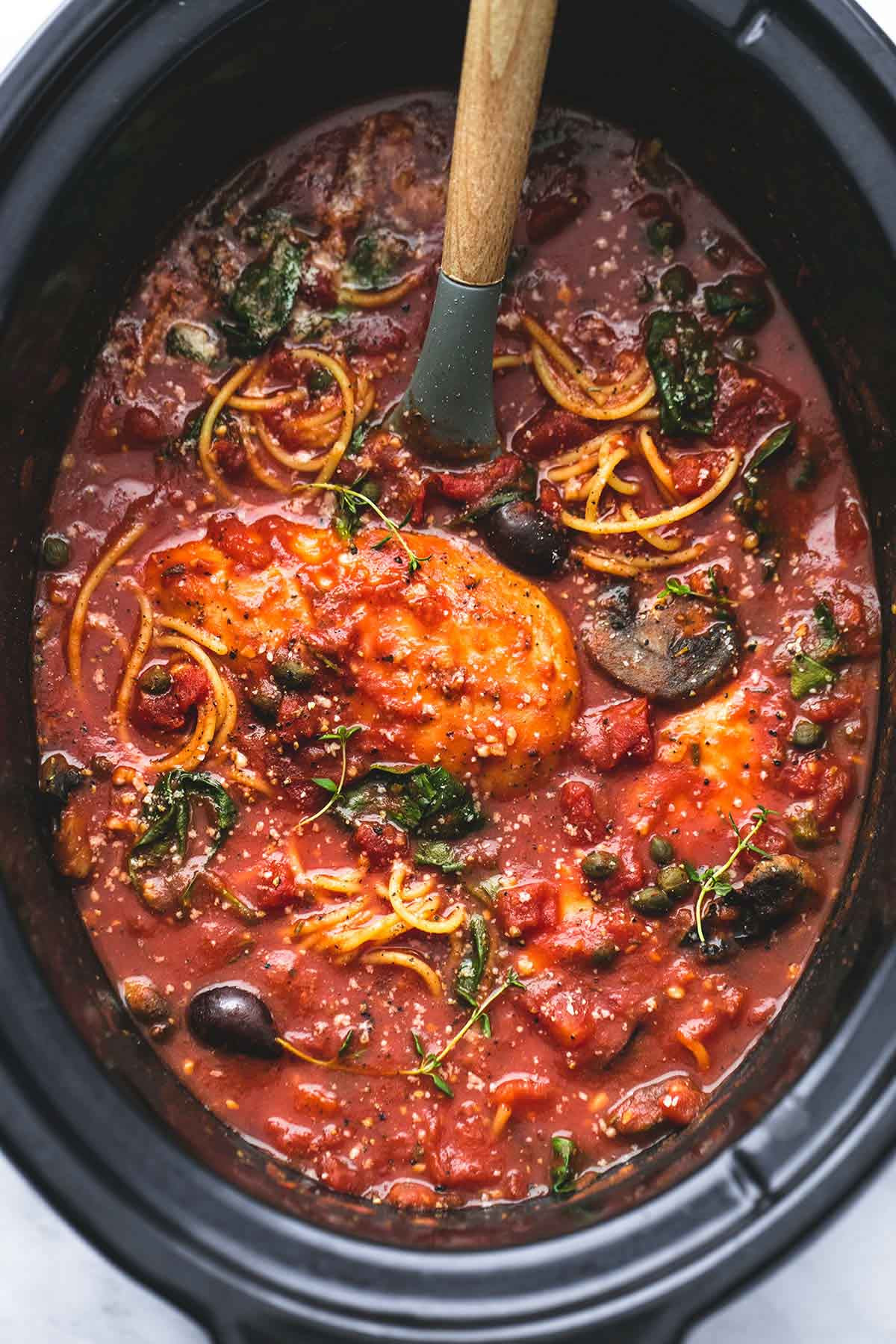 Healthy Slow Cooker Chicken Thighs  Healthy Slow Cooker Chicken Cacciatore