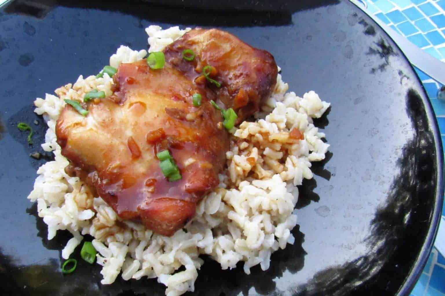 Healthy Slow Cooker Chicken Thighs  Chicken Thigh Crock Pot Recipes