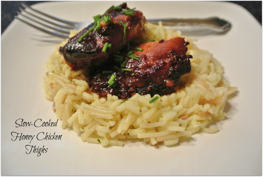 Healthy Slow Cooker Chicken Thighs  Slow cooked Honey Garlic Chicken Thighs
