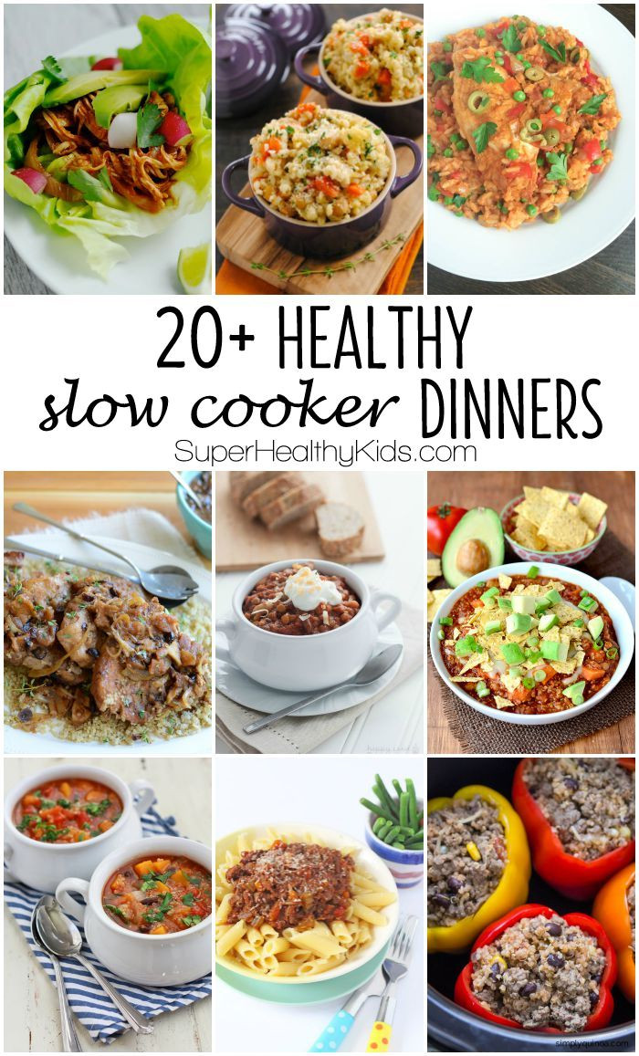 Healthy Slow Cooker Dinner Recipes  20 Healthy Slow Cooker Dinners