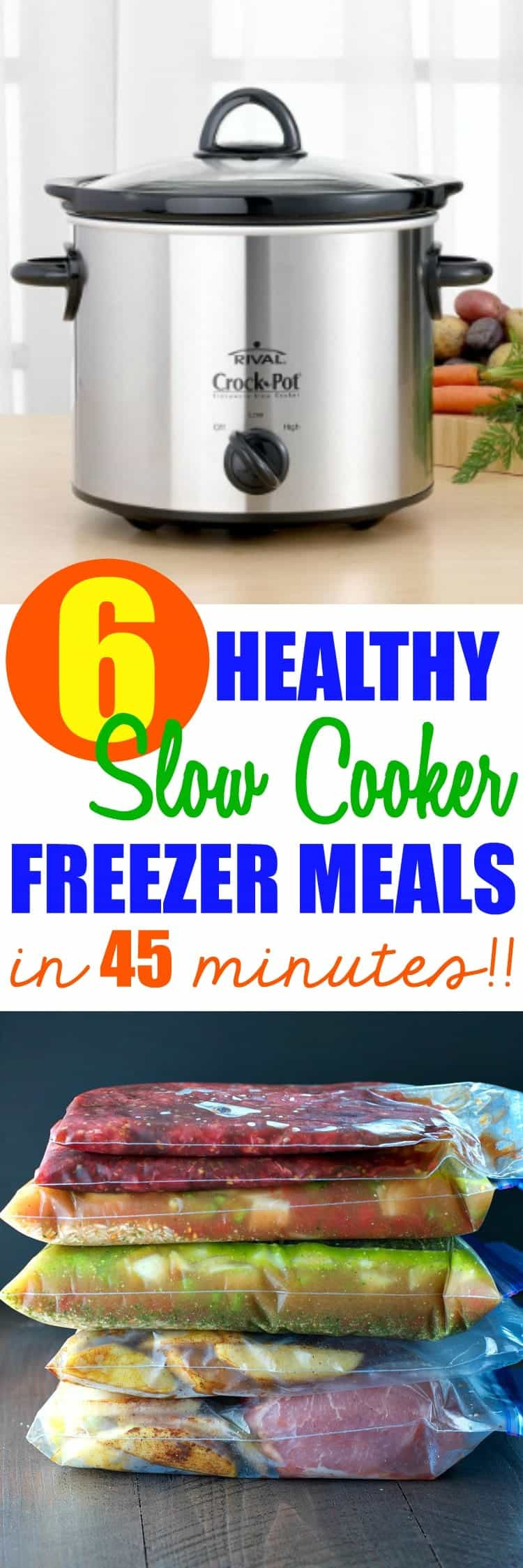 Healthy Slow Cooker Dinners  6 Healthy Slow Cooker Freezer Meals in 45 Minutes The
