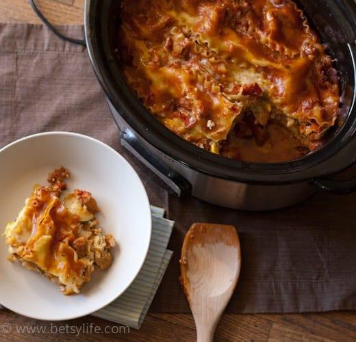 Healthy Slow Cooker Lasagna  Healthy Slow Cooker Lasagna