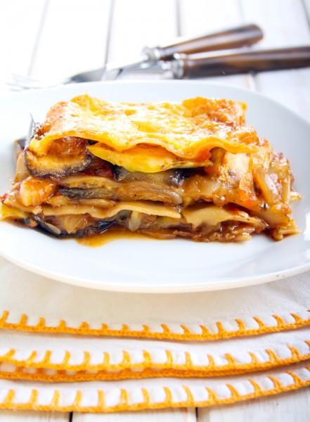 Healthy Slow Cooker Lasagna  Slow Cooker Ve able Lasagna a healthy crock pot recipe