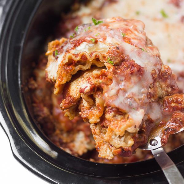Healthy Slow Cooker Lasagna  Healthy Slow Cooker Veggie Lasagna Healthy Liv