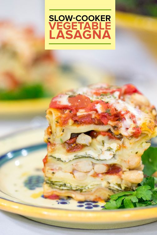 Healthy Slow Cooker Lasagna  Lasagna Healthy dishes and Easy recipes on Pinterest