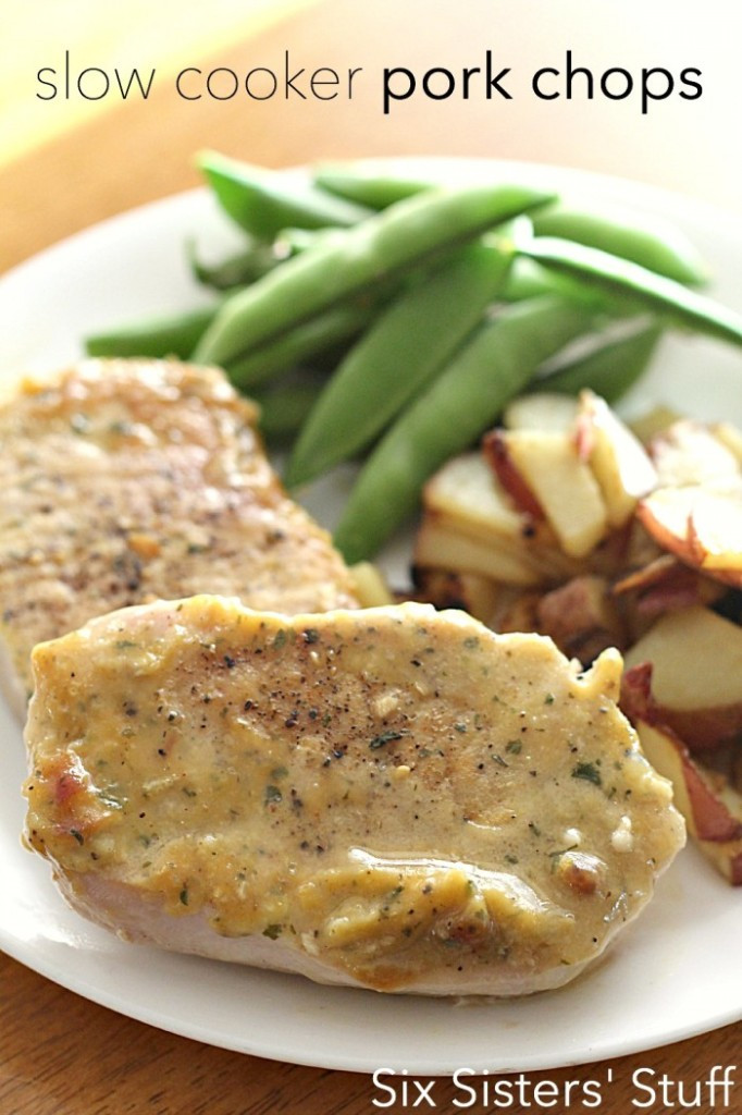 Healthy Slow Cooker Pork Chops  5 Simple Crock Pot Dinner Recipes With 5 Ingre nts Less