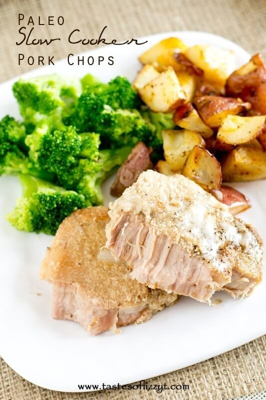 Healthy Slow Cooker Pork Chops  Family Friendly Healthy Recipes Whole30 and Paleo Recipe