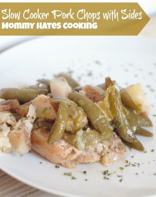 Healthy Slow Cooker Pork Chops  Slow Cooker Pork Chops with Green Beans & Potatoes