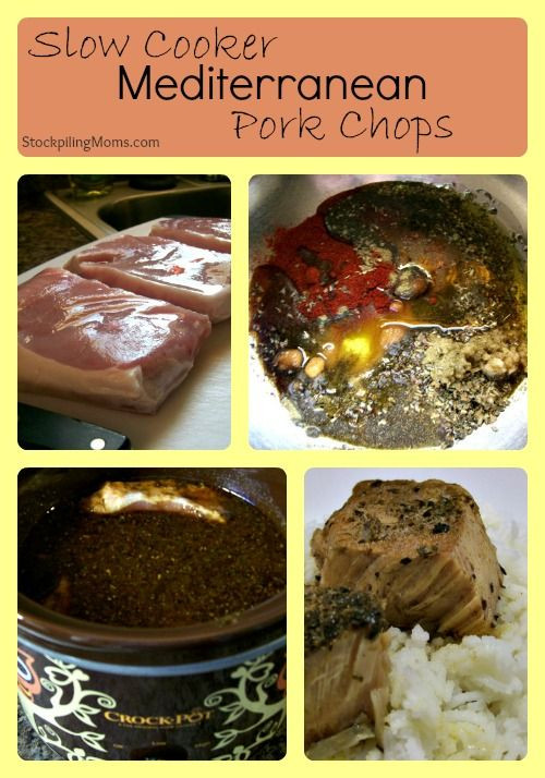 Healthy Slow Cooker Pork Chops  25 best images about MEDITERRANEAN DIET on Pinterest