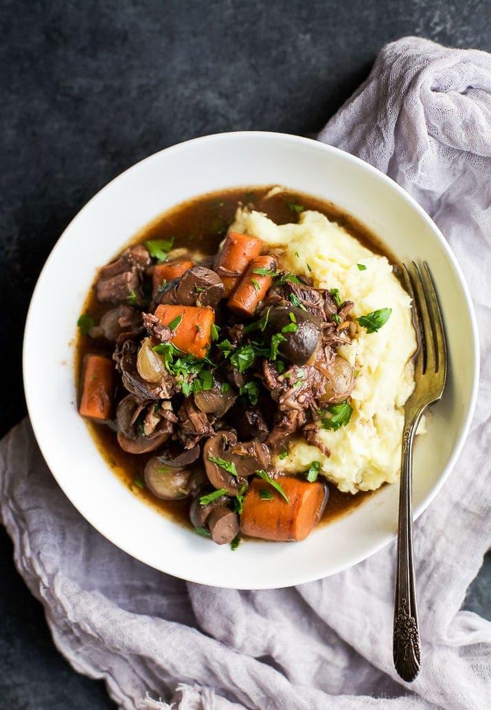 Healthy Slow Cooker Recipes Beef  Slow Cooker Beef Bourguignon