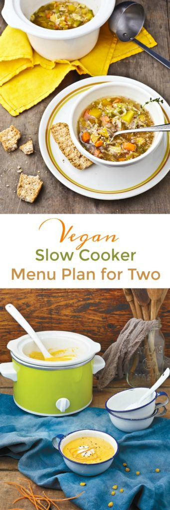 Healthy Slow Cooker Recipes For Two People  Vegan Slow Cooker Menu Plan for 2