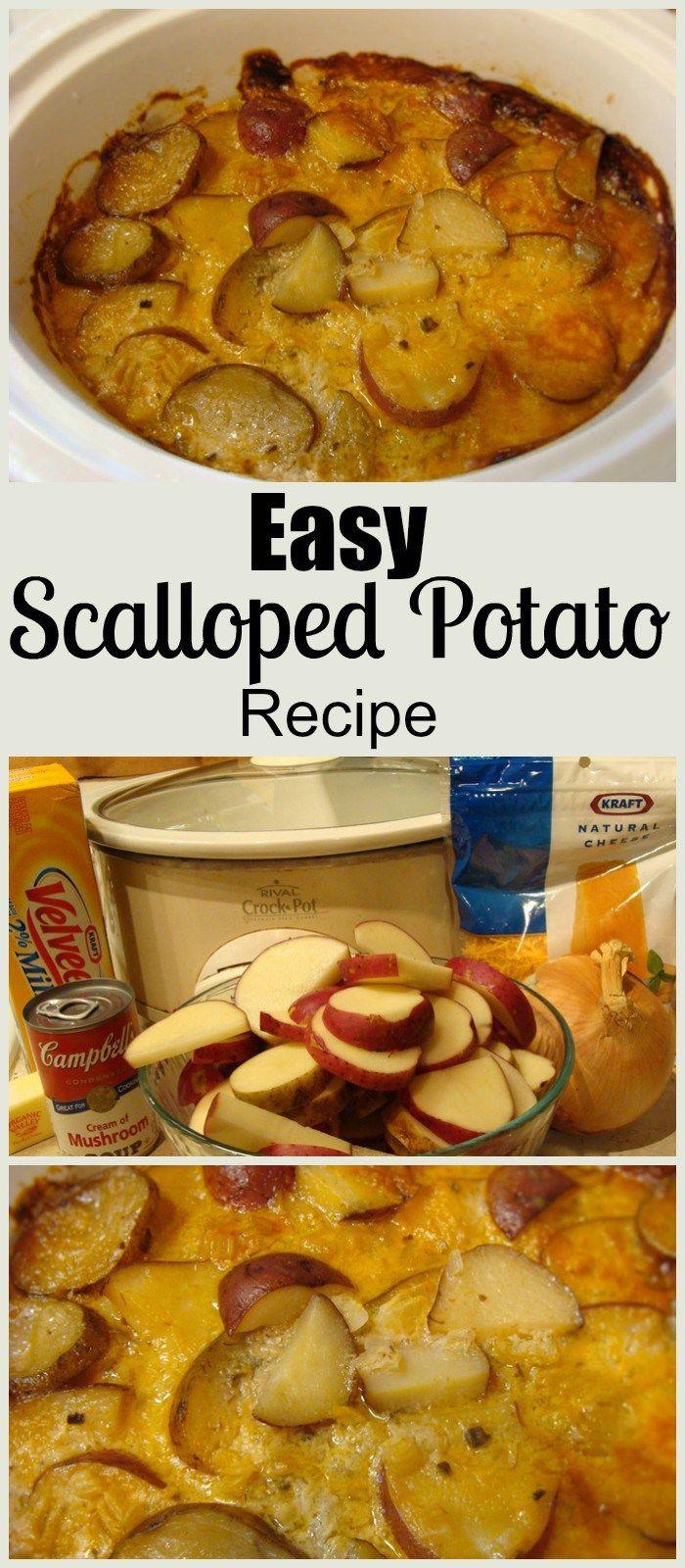 Healthy Slow Cooker Scalloped Potatoes  Easy Scalloped Potato Recipe