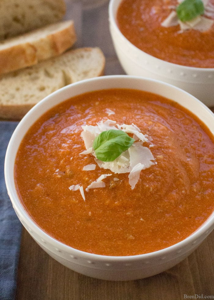 Healthy Slow Cooker Soup Recipes  Healthy Slow Cooker Tomato Basil Parmesan Soup Recipe