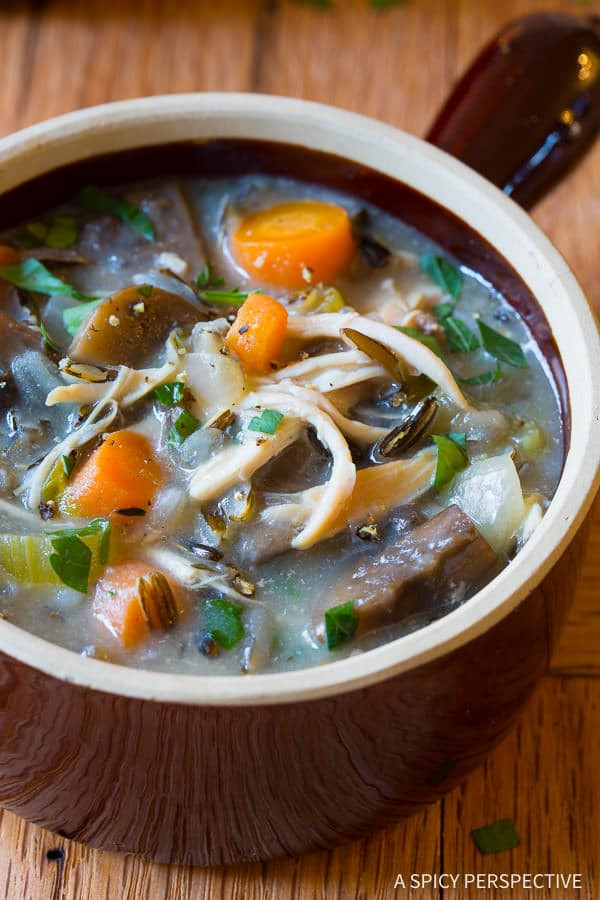 Healthy Slow Cooker Soup Recipes  chicken and wild rice healthy