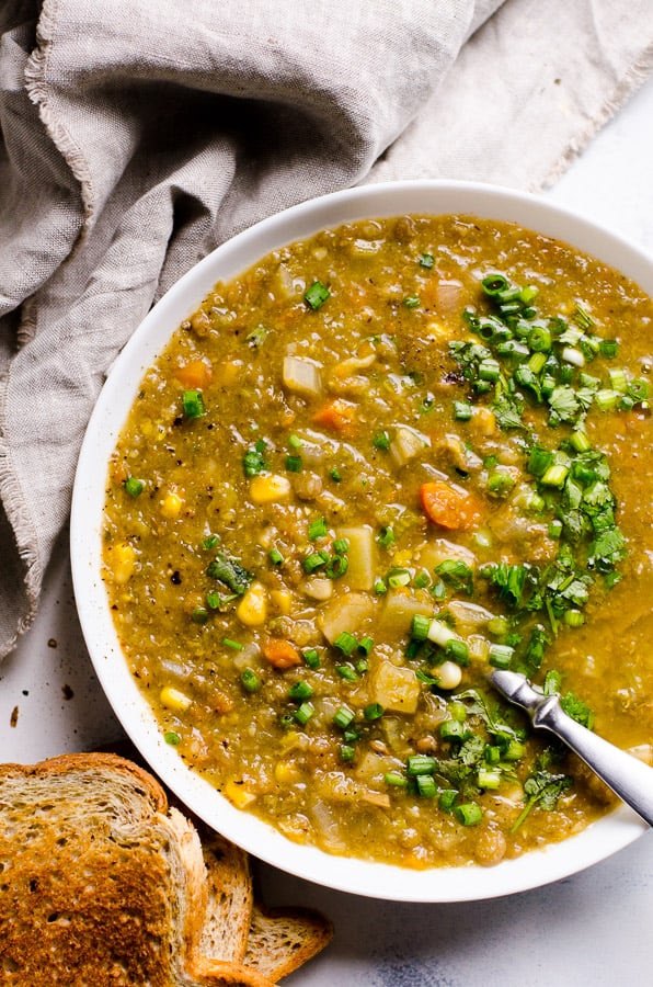 Healthy Slow Cooker Soup Recipes  Slow Cooker Ve arian Lentil Soup iFOODreal Healthy