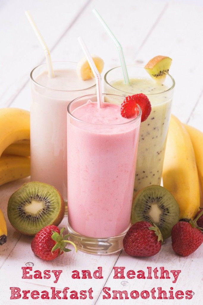 Healthy Smoothie Recipes For Breakfast  Easy and Healthy Breakfast Smoothies