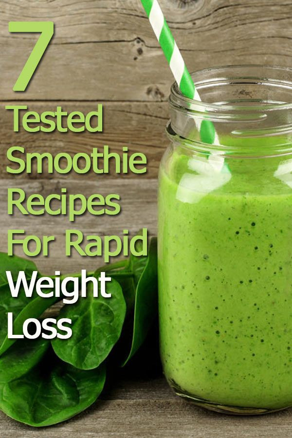Healthy Smoothie Recipes For Weight Loss  7 Smoothie Recipes For Rapid Weight Loss