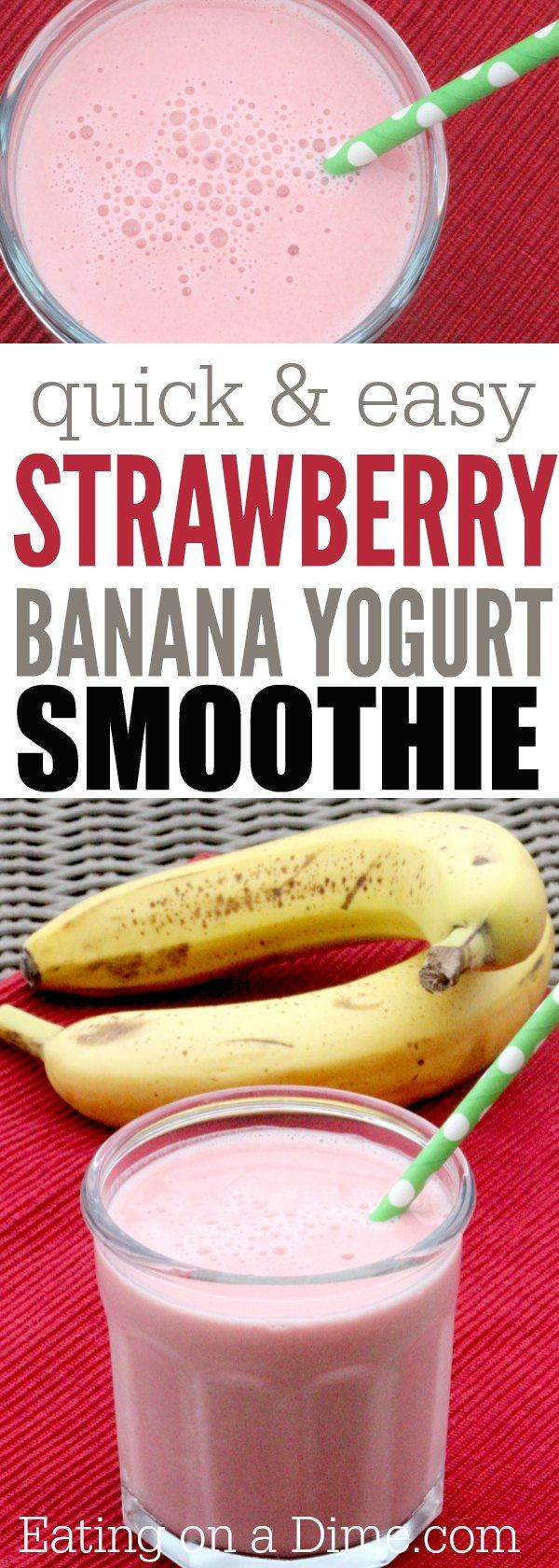 Healthy Smoothie Recipes With Yogurt  17 Best ideas about Strawberry Banana Smoothie on