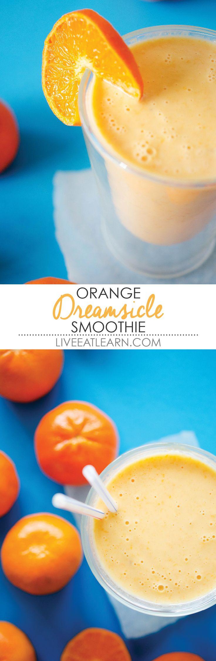 Healthy Smoothie Recipes With Yogurt  Best 25 Orange creamsicle ideas on Pinterest
