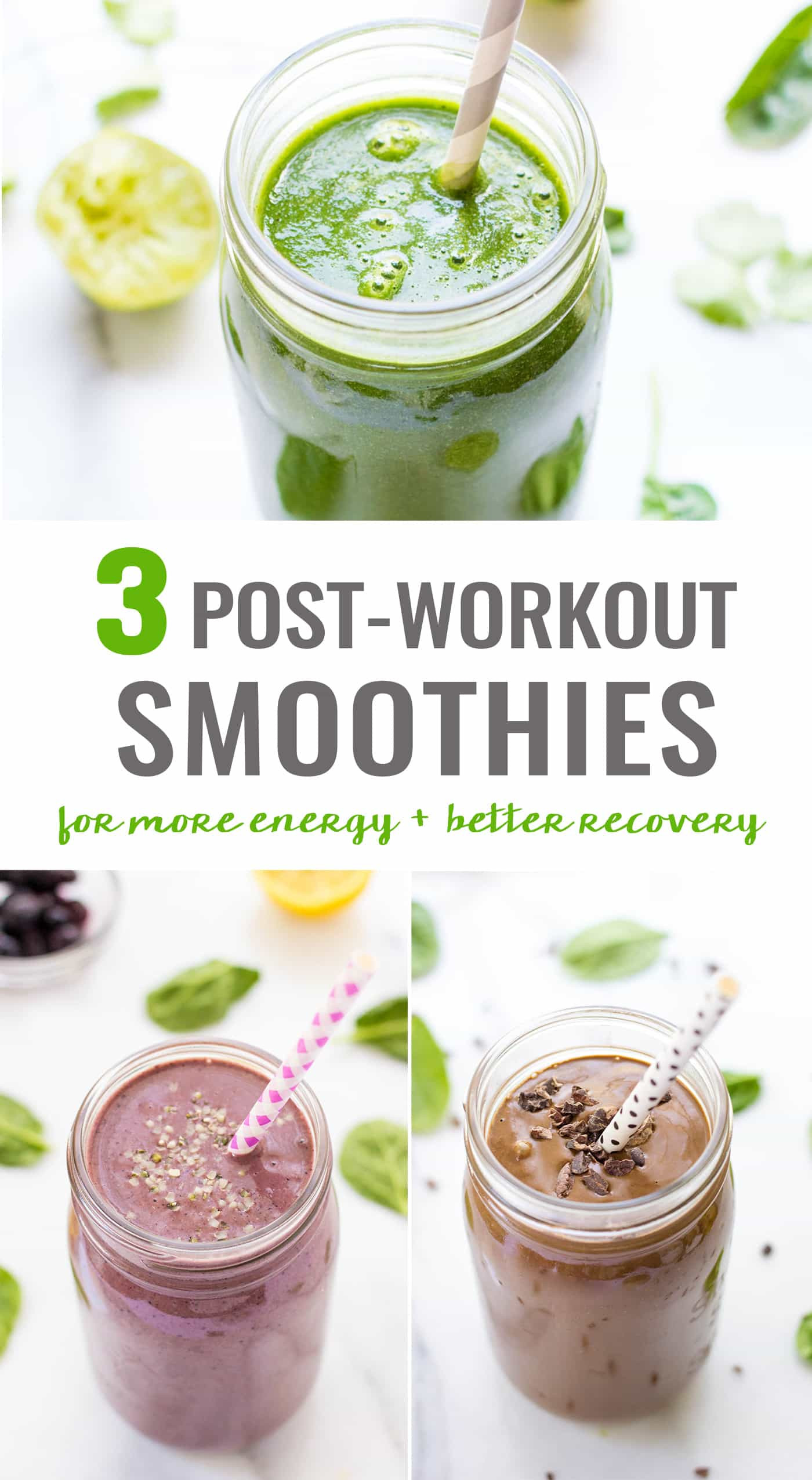 Healthy Smoothies After Workout  3 Post Workout Smoothies Simply Quinoa
