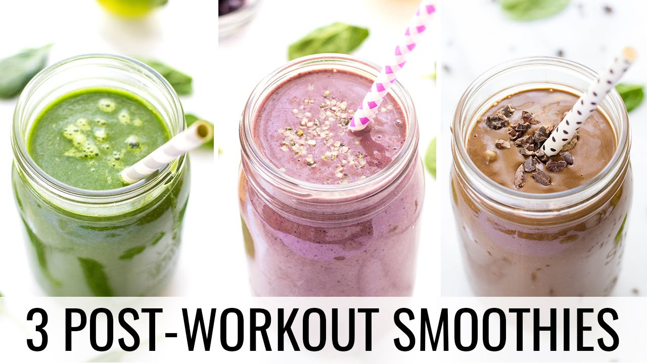 Healthy Smoothies After Workout  3 Post Workout Smoothies