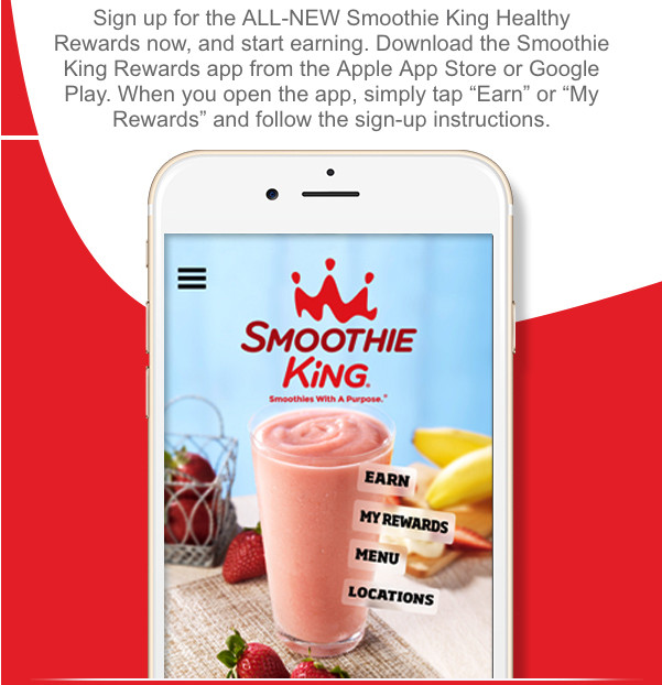 Healthy Smoothies At Smoothie King  Smoothie King Coupons Free Smoothies and More Cha