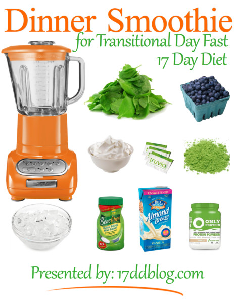 Healthy Smoothies For Dinner  Dinner Smoothie Recipe for the 17 Day Diet