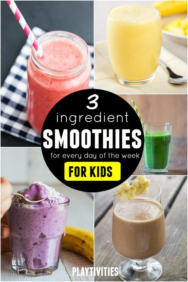 Healthy Smoothies For Kids  Serve Smoothies For Kids 3 ingre nt recipes for entire