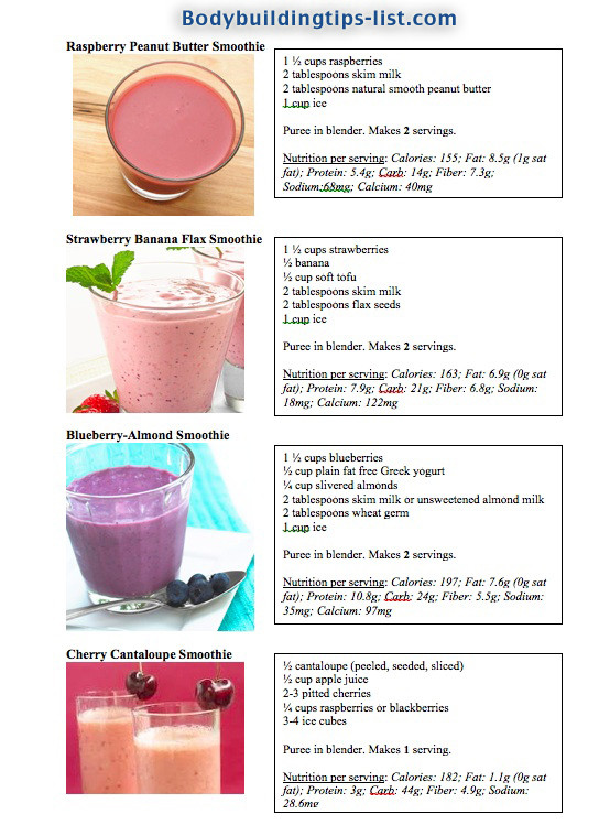 Healthy Smoothies For Weight Loss And Energy  smoothie recipes for weight loss