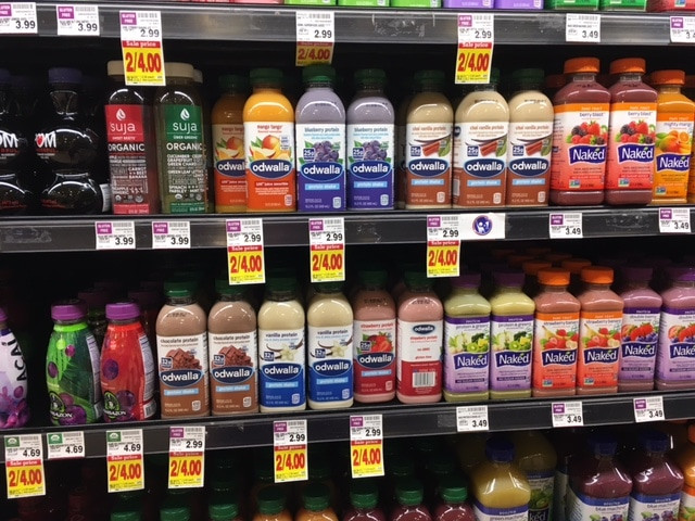 Healthy Smoothies To Buy At The Grocery Store  Odwalla Juice Smoothie or Protein Shake $ 63 after Coupon