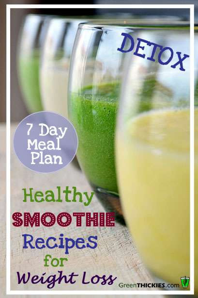 Healthy Smoothies To Lose Weight  Healthy Meal recipes to lose weight plicated Recipes
