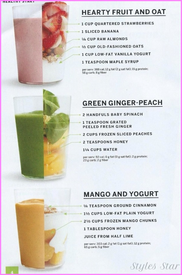 Healthy Smoothies To Lose Weight  Healthy Fruit Smoothie Recipes To Lose Weight StylesStar