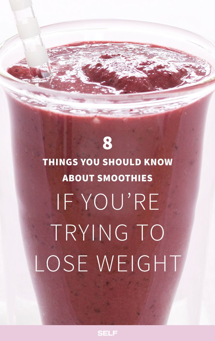 Healthy Smoothies To Lose Weight  8 Things You Should Know About Making Smoothies If You're