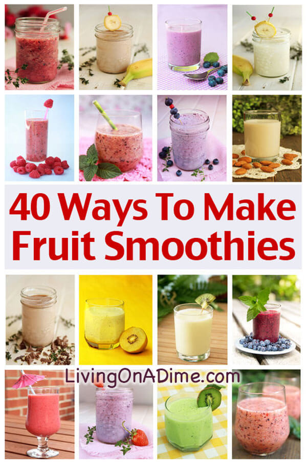 Healthy Smoothies To Make  Homemade Fruit Smoothies Recipe And Extras Delicious And
