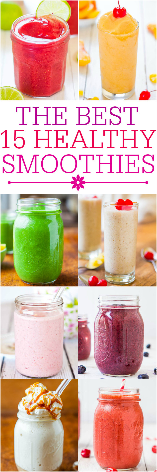 Healthy Smoothies To Make  Fruit and Yogurt Smoothie Averie Cooks
