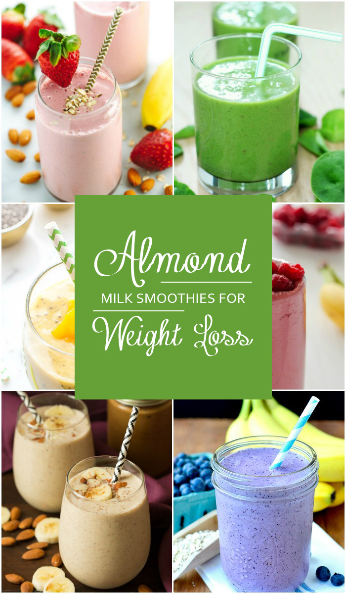 Healthy Smoothies With Almond Milk  almond milk smoothie weight loss