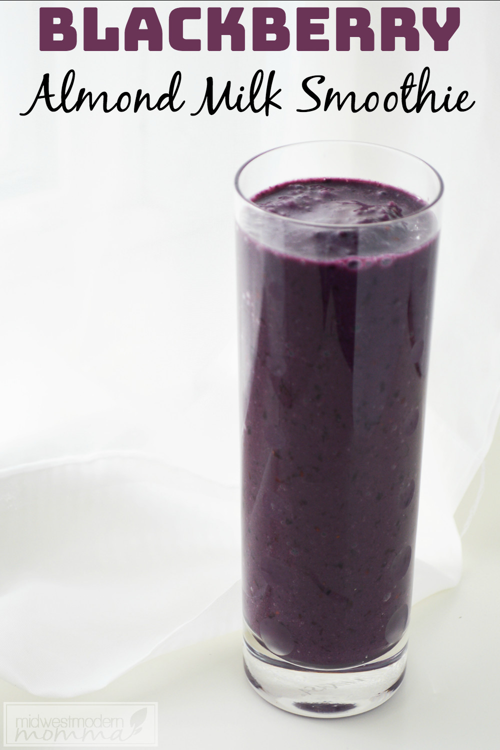 Healthy Smoothies With Almond Milk  Blackberry Almond Milk Smoothie