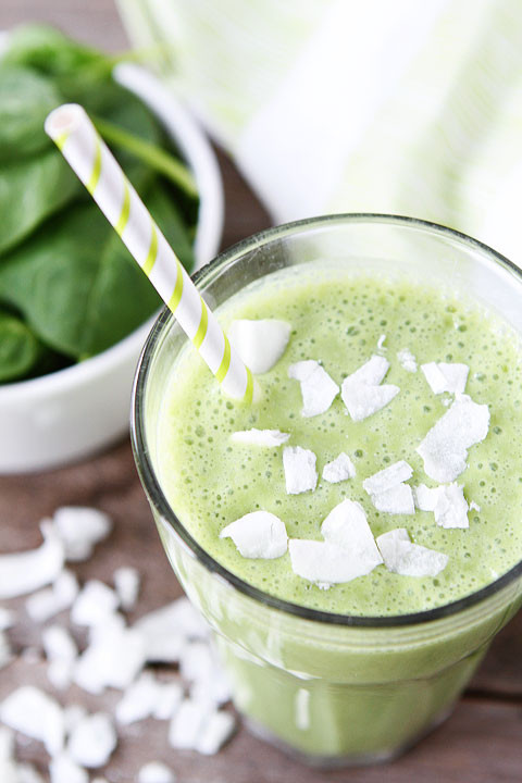 Healthy Smoothies With Coconut Milk  Coconut Green Smoothie Recipe