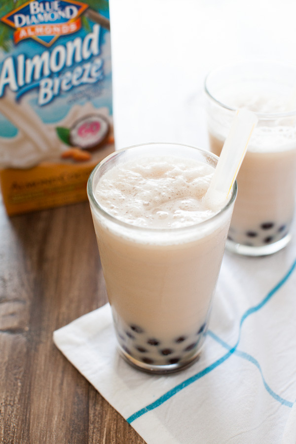 Healthy Smoothies With Coconut Milk  Coconut Almond Milk Tea Smoothies with Boba The Little