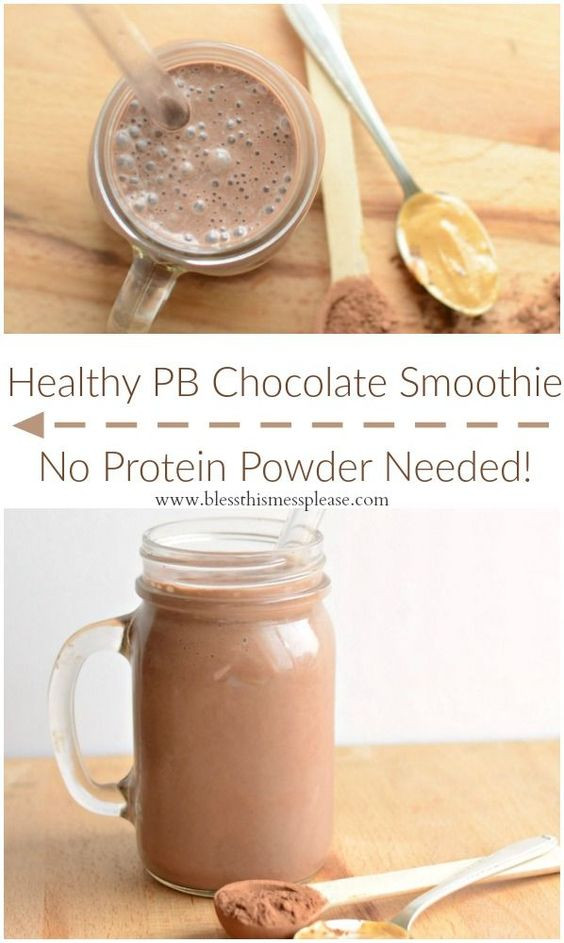 Healthy Smoothies With Protein Powder  Healthy Chocolate Peanut Butter Protein Smoothie no weird