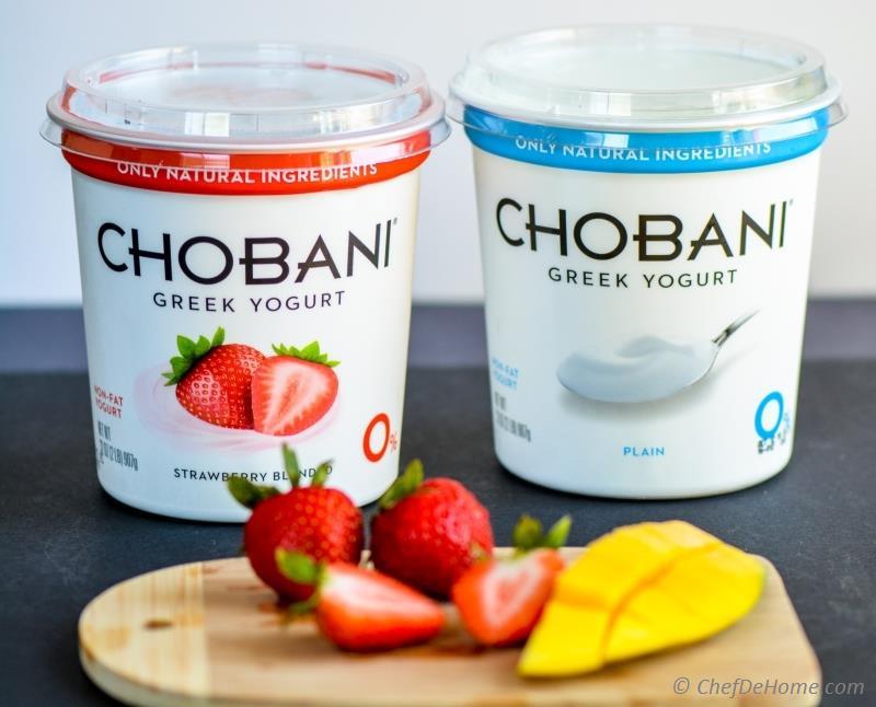 Healthy Smoothies With Yogurt  Mango Strawberry Swirl Yogurt Smoothie Recipe