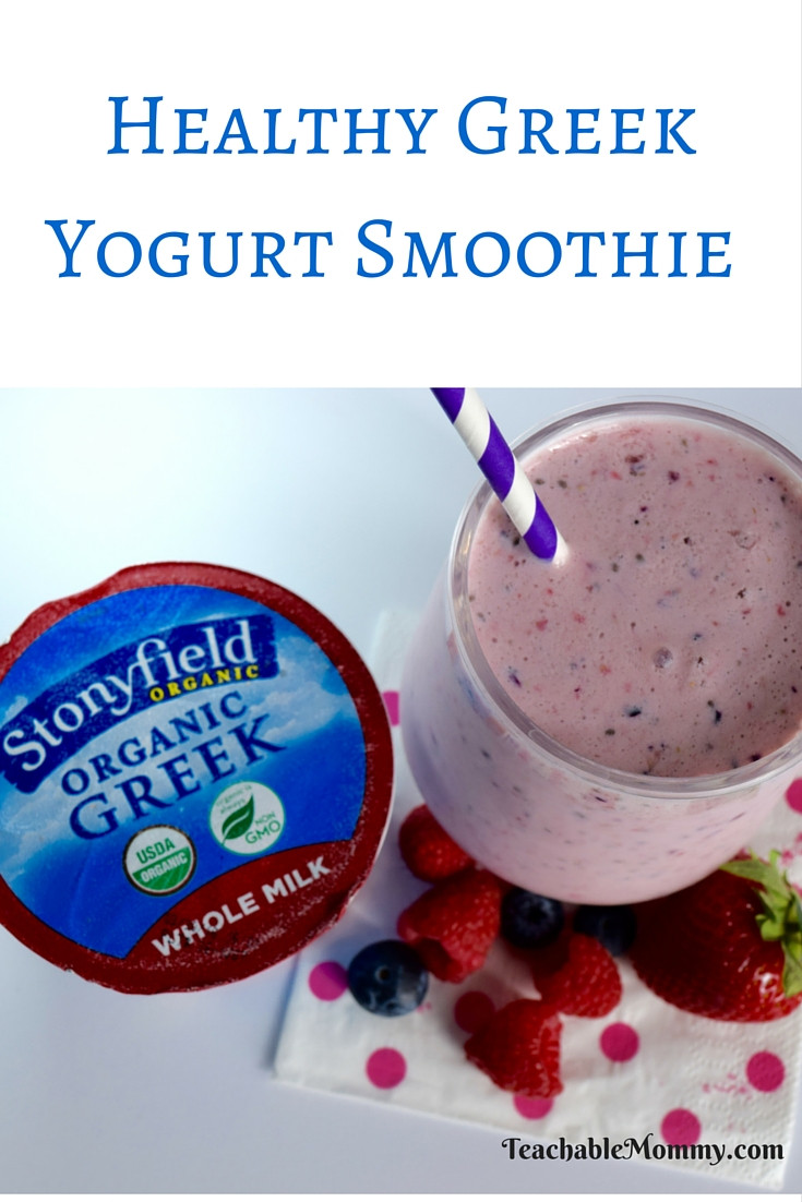 Healthy Smoothies With Yogurt  Stonyfield Whole Milk Greek Yogurt Smoothie Teachable Mommy